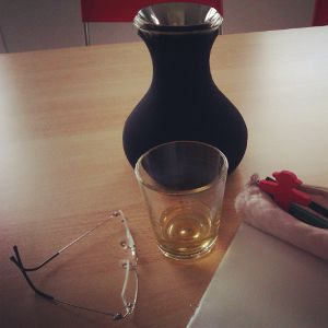 Tee trinken und studieren
